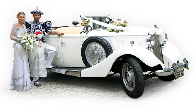 Vintage wedding cars in Sri Lanka