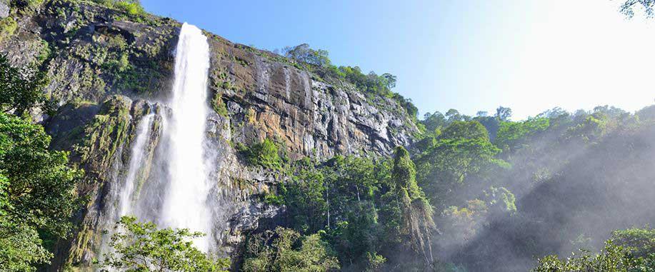 Diyaluma falls in Sri Lanka