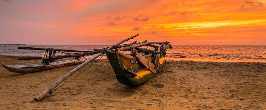 Arugam bay beach in Sri Lanka