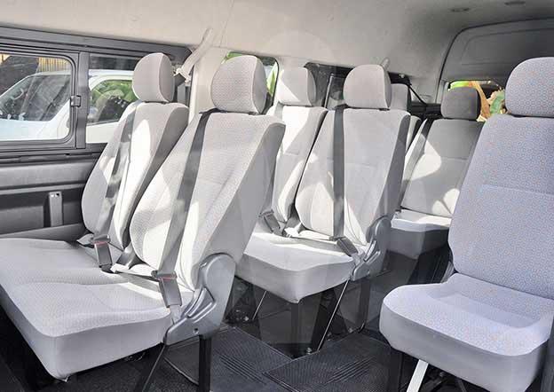 inside-Toyota GRAND CABIN 12 + 1 Passenger. Multi A/C