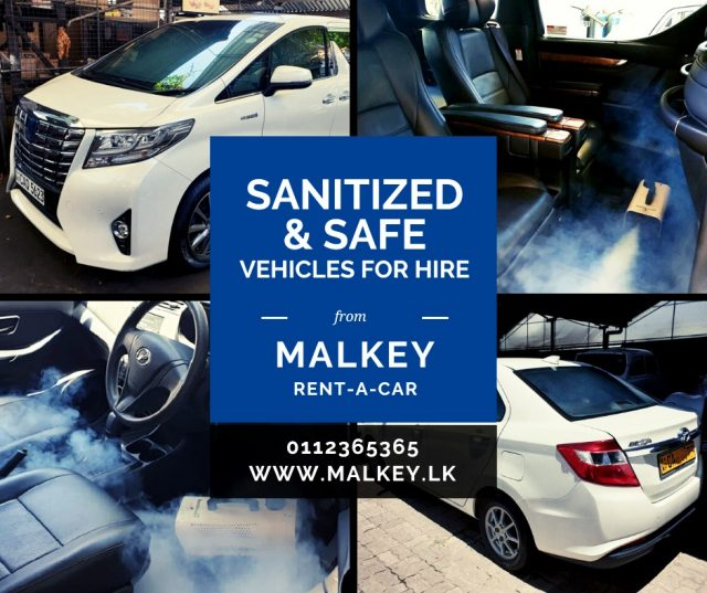 Sanitized and Safe Vehicles for Hire on Self-Drive and With driver Basis Covid19 Covid Colombo Sri Lanka Taxi Transport Travel Public Precautions Protection