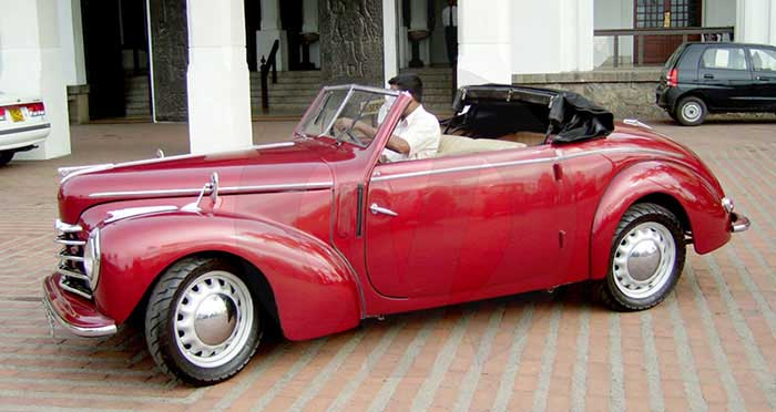 Skoda Roadster (1950) Open Top (Red)
