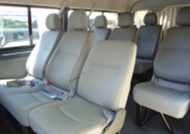 inside-Toyota Hiace Commuter 9 Passenger. Multi A/C