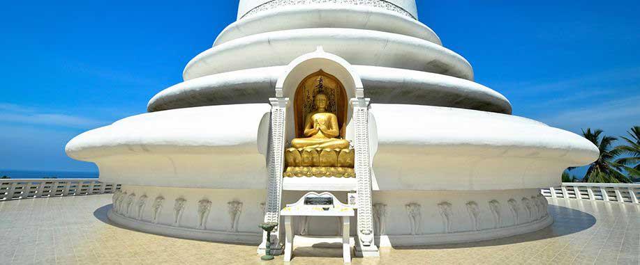Japanese peace pagoda in Unawatuna