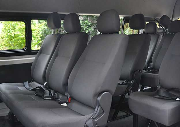 inside-Toyota Hiace Commuter 15 Passenger. Multi A/C