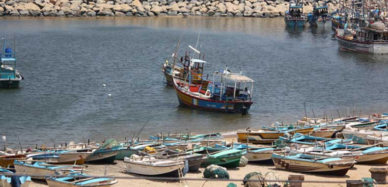 Hambantota harbour Sri Lanka